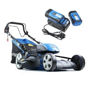 Hyundai HYM120LI510 120V Lithium Ion Cordless Battery Powered Self Propelled Lawn Mower
